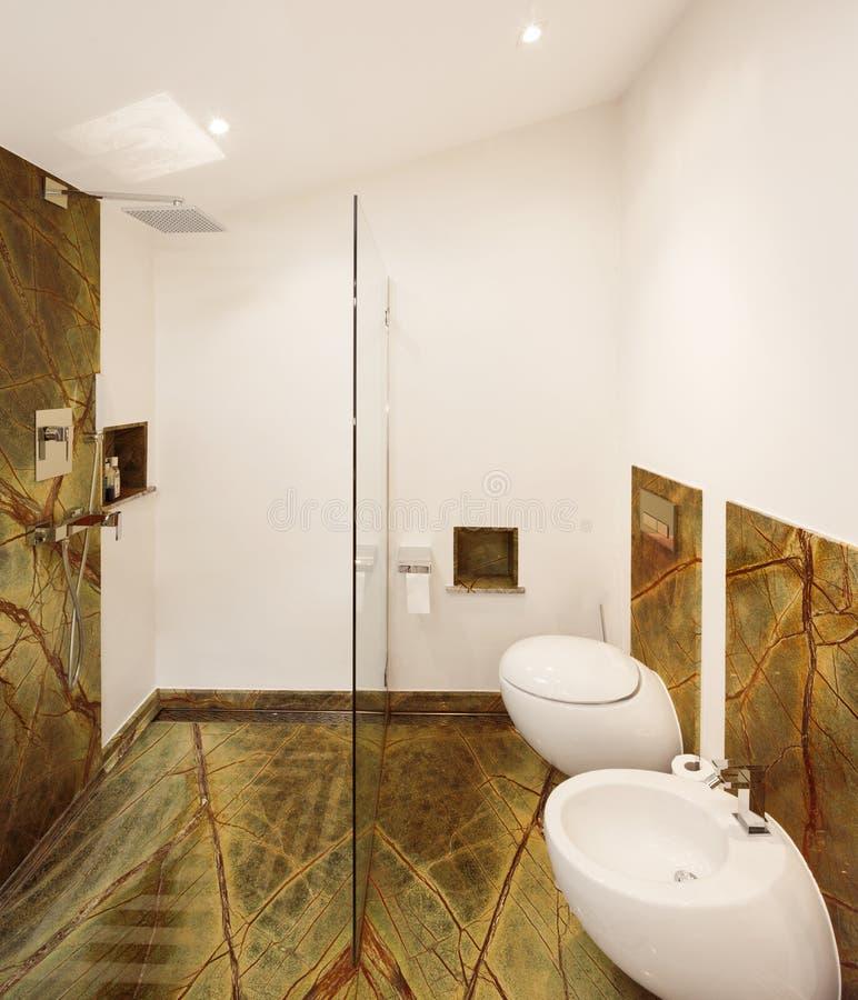 Binnenlands ontwerp, luxebadkamers royalty-vrije stock afbeelding