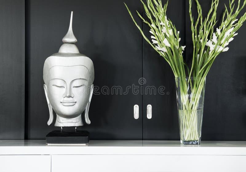 Binnenlands ontwerp in modern huis stock fotografie