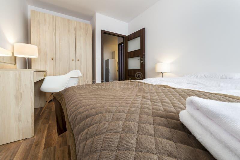 Binnenlands ontwerp: Moderne Slaapkamer royalty-vrije stock foto