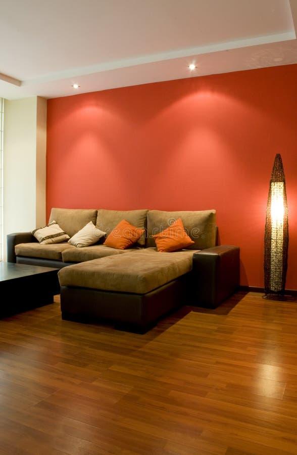 Binnenlands ontwerp; mooie woonkamer royalty-vrije stock foto