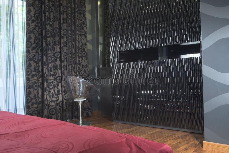 Binnenlands ontwerp - slaapkamer stock fotografie