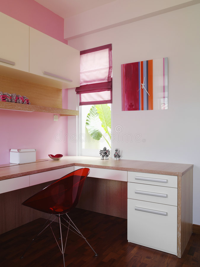 Binnenlands ontwerp - slaapkamer royalty-vrije stock fotografie