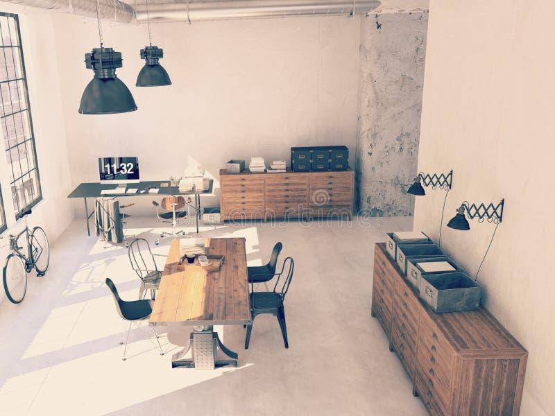 Binnenlands ontwerp van moderne woonkamer het 3d teruggeven stock afbeelding