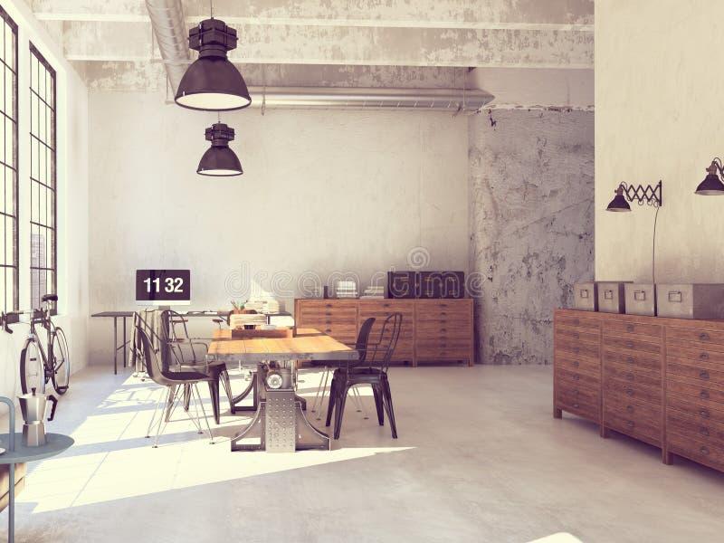 Binnenlands ontwerp van moderne woonkamer het 3d teruggeven royalty-vrije stock foto's