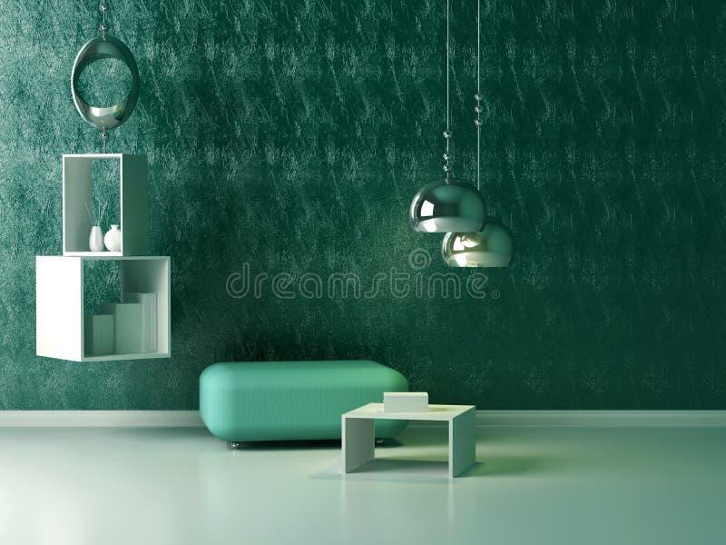 Binnenlands ontwerp van moderne zitkamer. royalty-vrije illustratie
