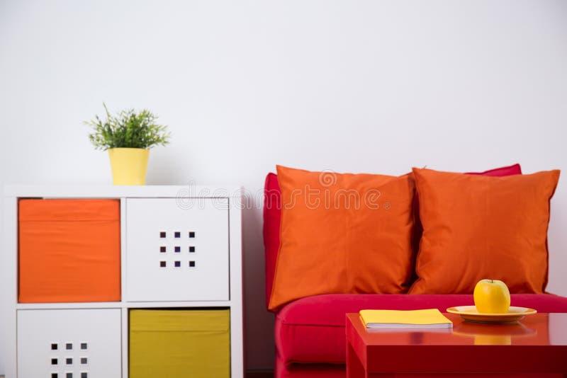 Binnenlands ontwerp voor tienerslaapkamer royalty-vrije stock afbeelding