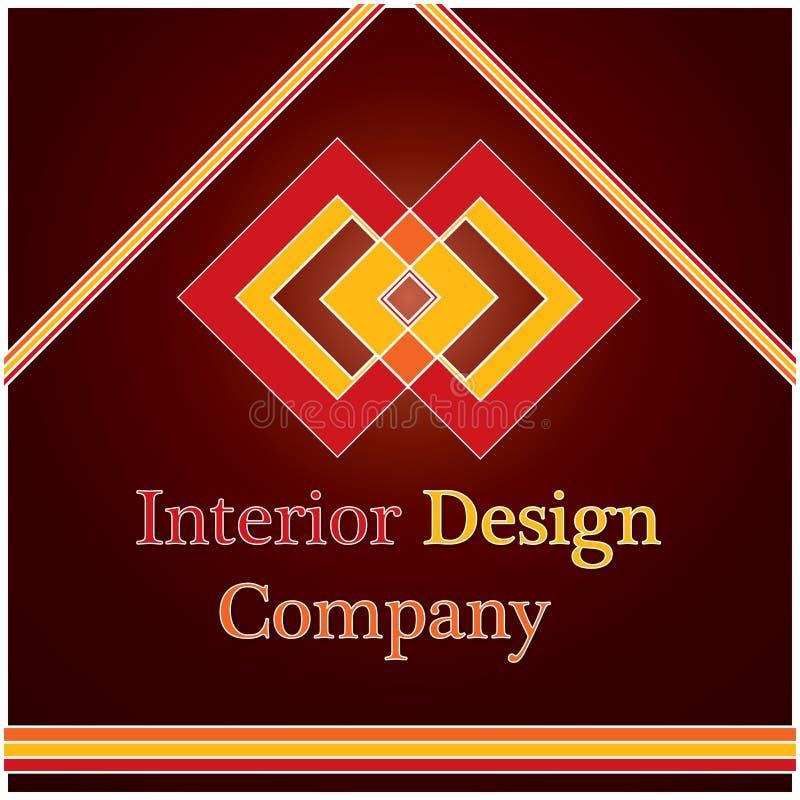 Binnenlands ontwerpembleem stock illustratie