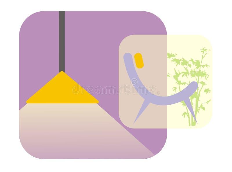 Binnenlands ontwerppictogram stock illustratie