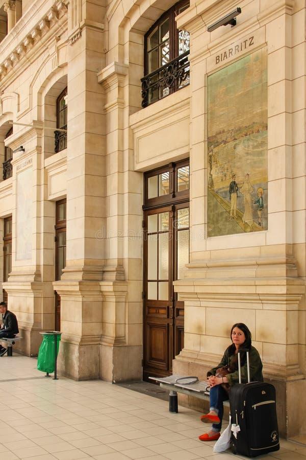 Binnenlands Station reizen frankrijk royalty-vrije stock afbeeldingen
