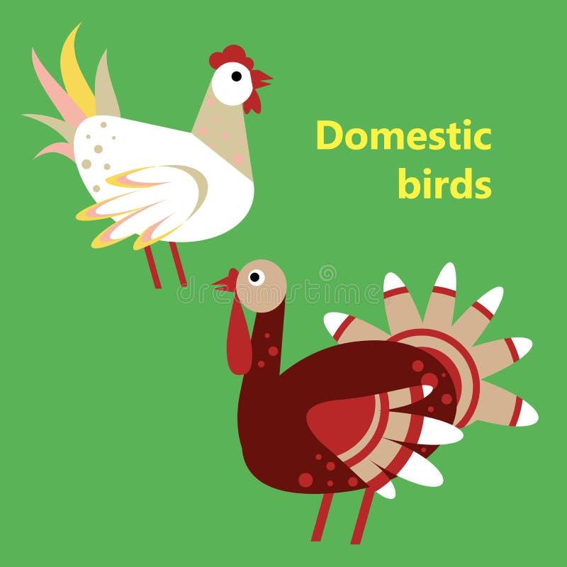 Binnenlands vogelshaan en Turkije royalty-vrije illustratie