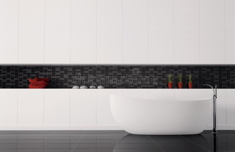 Binnenlandse 3d van de badkamers royalty-vrije illustratie