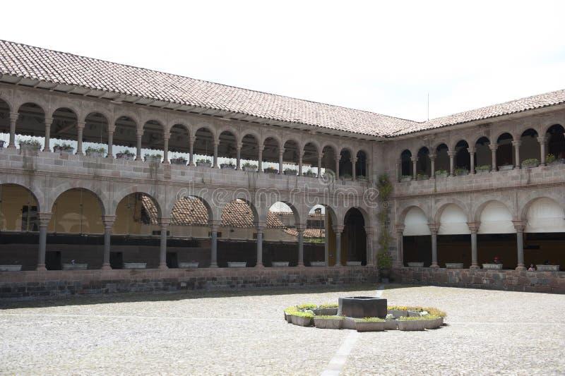 Binnenlandse Binnenplaats in Cusco stock foto