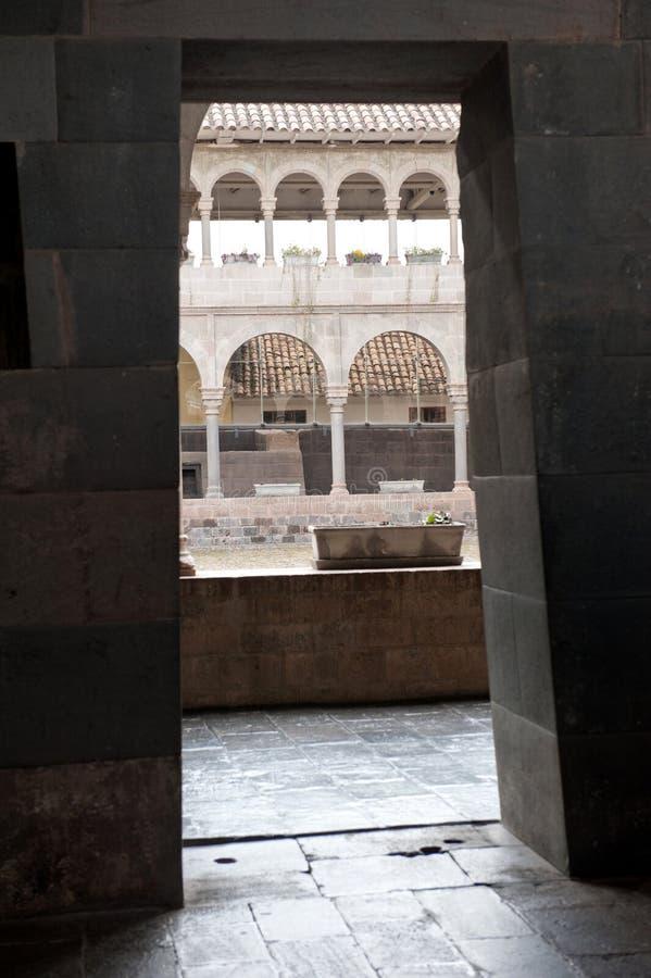Binnenlandse Binnenplaats in Cusco stock foto's