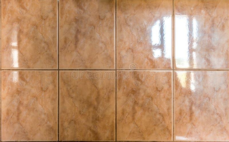 Binnenlandse of buitenbadkamers of keuken vierkante keramische tegels royalty-vrije stock fotografie
