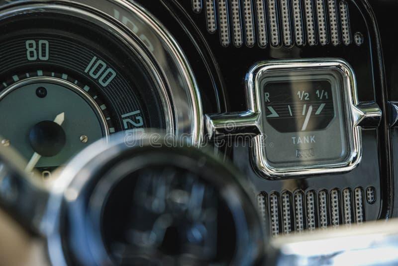 Binnenlandse close-up van een de kever klassieke auto van Volkswagen stock afbeelding