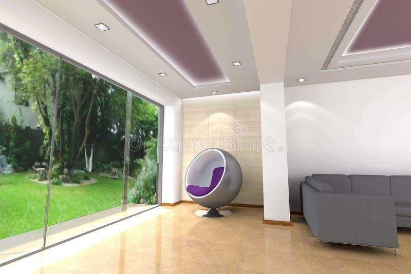 Binnenlandse 3D van het huis royalty-vrije stock afbeeldingen