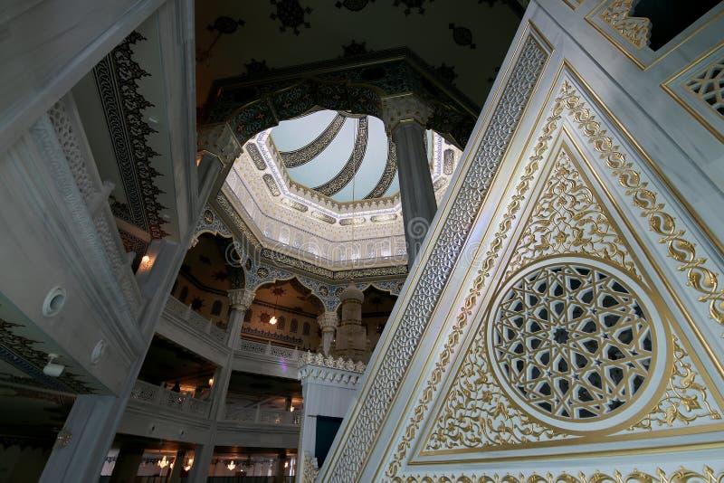 (Binnenlandse) de Kathedraalmoskee van Moskou, Rusland -- de belangrijkste moskee in Moskou stock fotografie