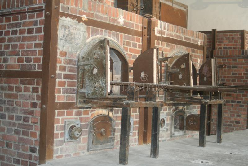 Binnenlandse details van het Naziconcentratiekamp in Duitsland royalty-vrije stock afbeelding