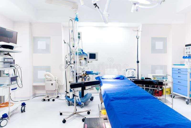 Binnenlandse details van het ziekenhuis - de kliniek van de Overzichtsgezondheidszorg met noodsituatieruimte stock foto
