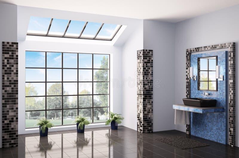 Binnenlandse geeft 3d van de badkamers terug royalty-vrije illustratie