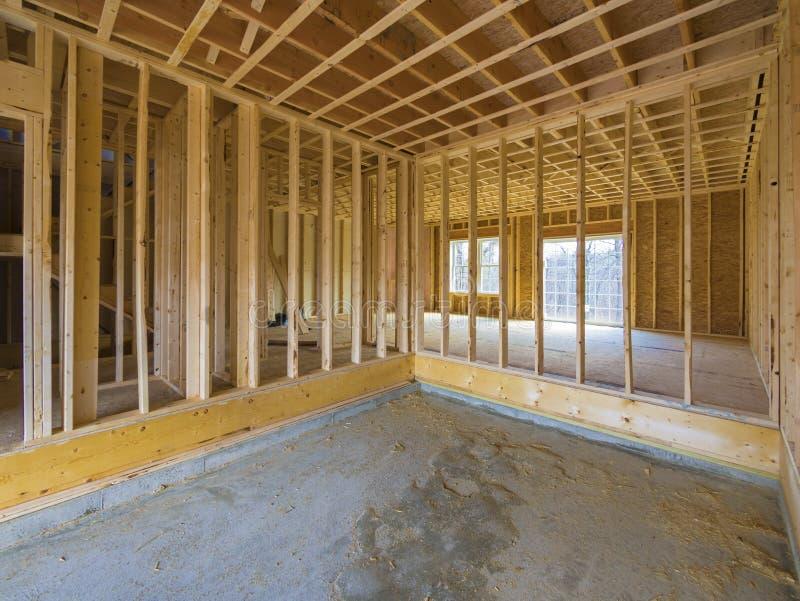 Binnenlandse huisbouw royalty-vrije stock afbeelding