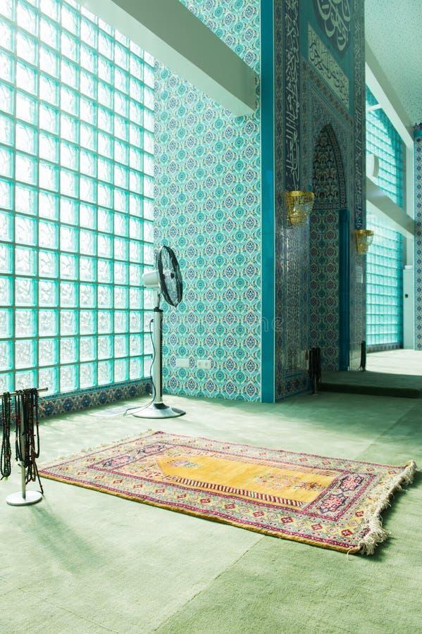 Binnenlandse Islamitische moskee royalty-vrije stock foto's