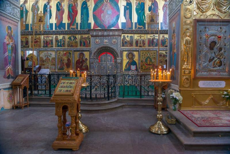 Binnenlandse Iversky-Kathedraal stock foto's