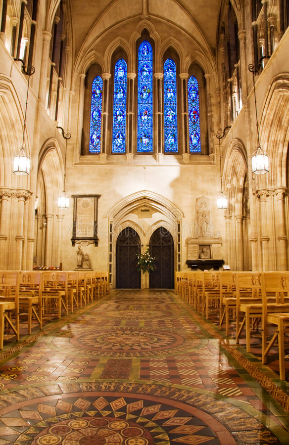 Binnenlandse mening bij de Kathedraal van de Kerk van Christus in Dublin royalty-vrije stock fotografie