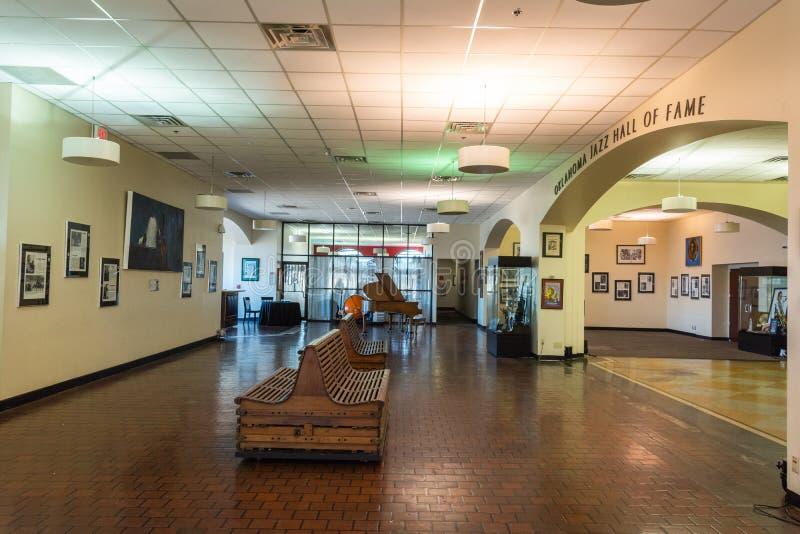 Binnenlandse mening van Oklahoma O.K. Jazz Hall van Bekendheid in Tulsa, royalty-vrije stock foto's