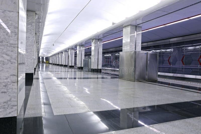 Binnenlandse metro van Moskou post royalty-vrije stock afbeeldingen
