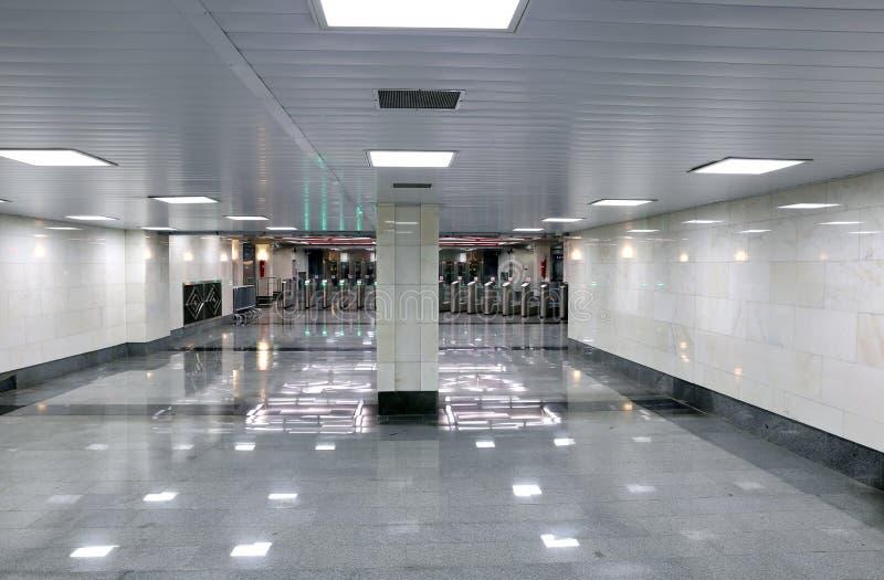 Binnenlandse metro van Moskou post stock fotografie