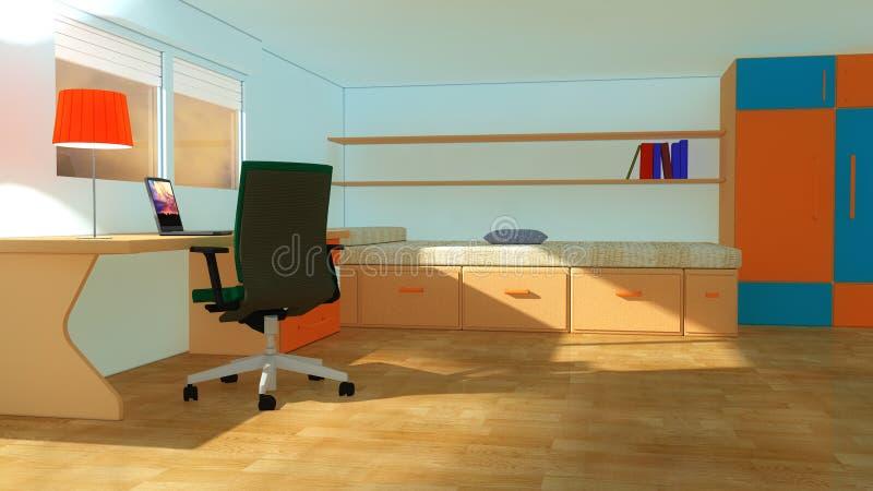 Binnenlandse moderne de jeugdruimte vector illustratie