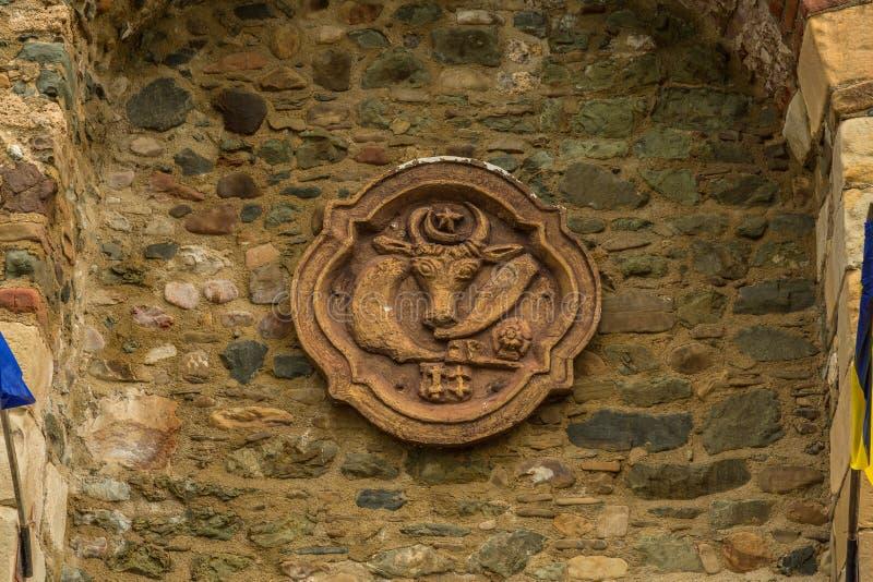 Binnenlandse muren van Neamt-Vesting stock foto's