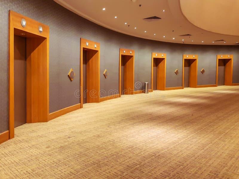 Binnenlandse ontwerp en hotelhal stock afbeelding