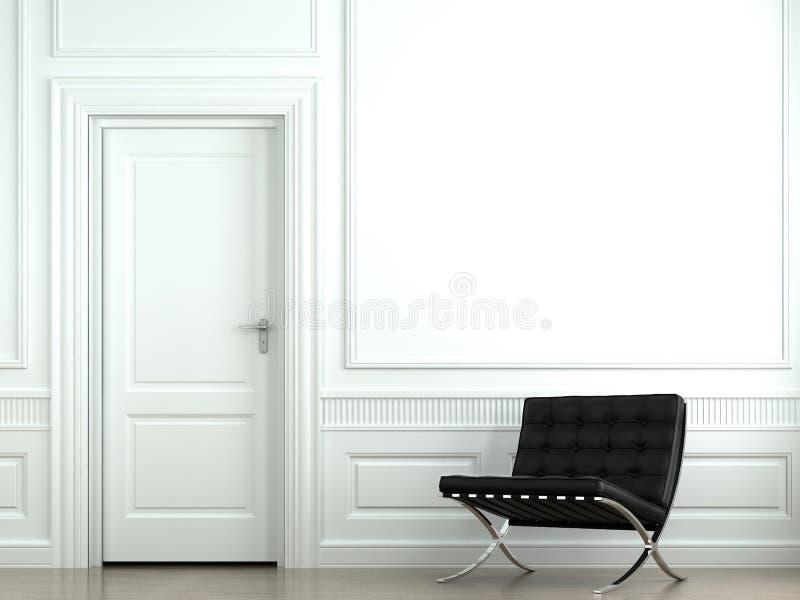 Binnenlandse ontwerp klassieke muur stock foto