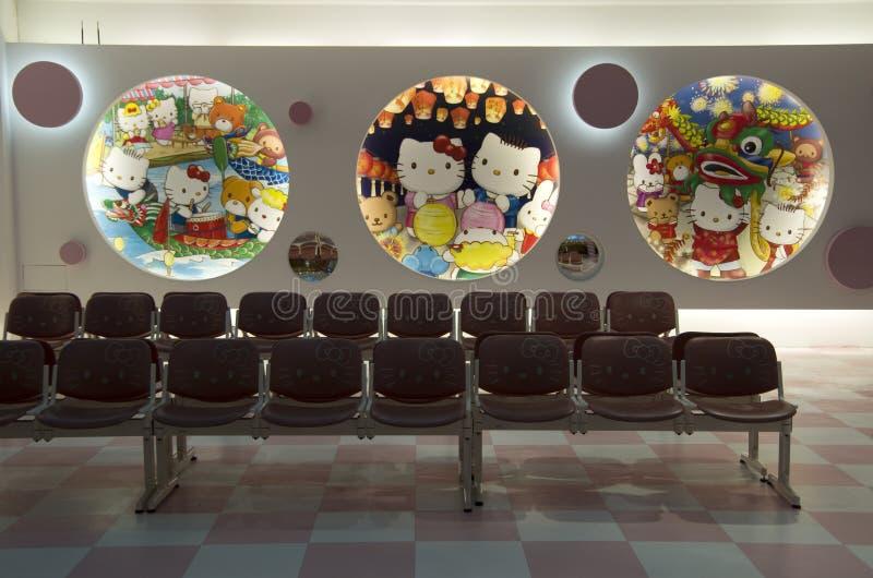 Binnenlandse ontwerpideeën - luchthavenwachtkamer royalty-vrije stock foto