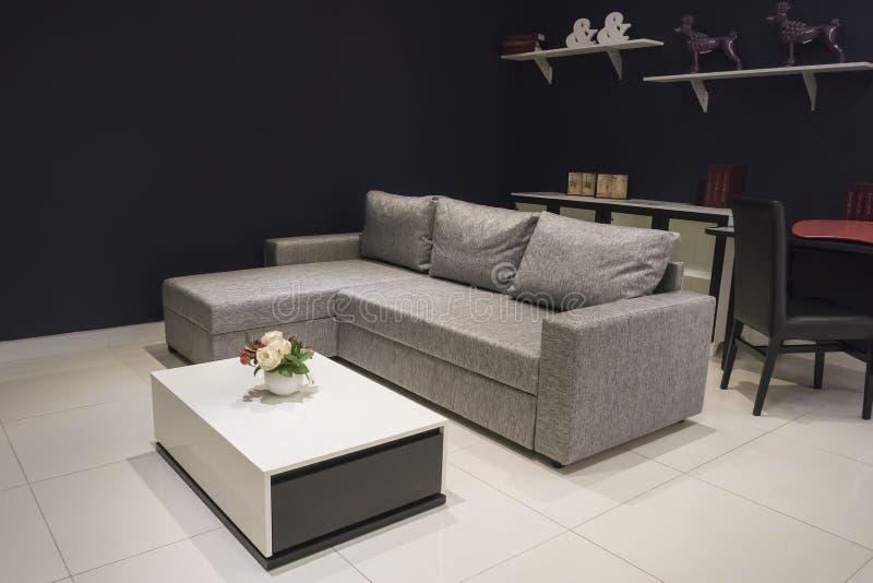Binnenlandse ontwerpreeks: Moderne woonkamer royalty-vrije stock afbeelding