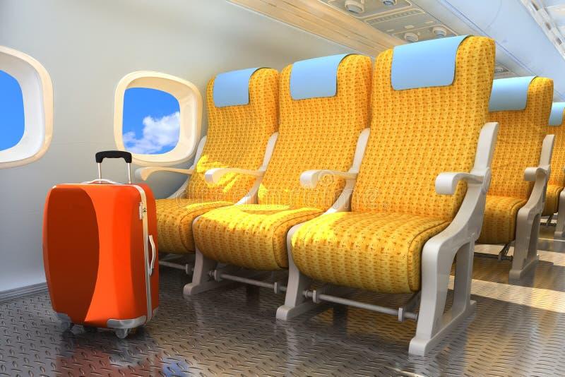 Binnenlandse passagiersvliegtuigen stock illustratie