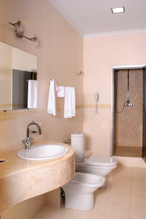 Binnenlandse rest-room stock foto