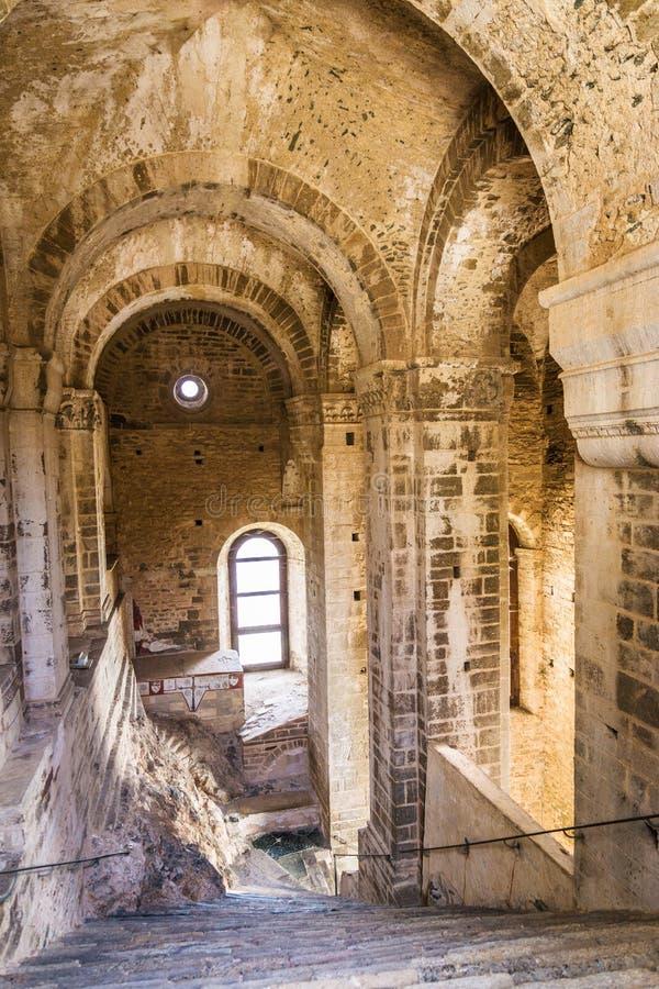 Binnenlandse Sacra van Heilige Michael, Piemonte, Turijn, Italië stock afbeeldingen