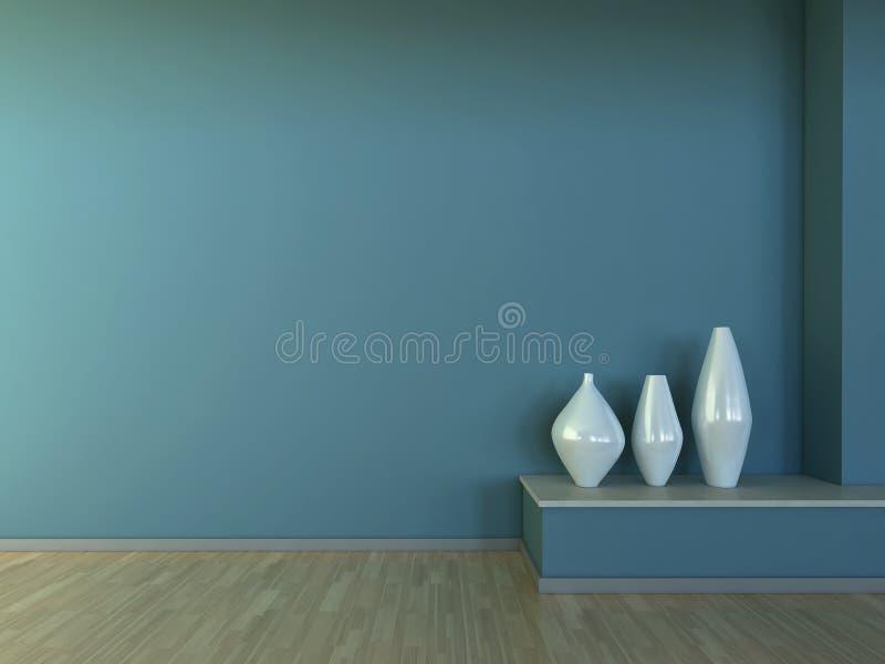 Binnenlandse scène met vaas vector illustratie