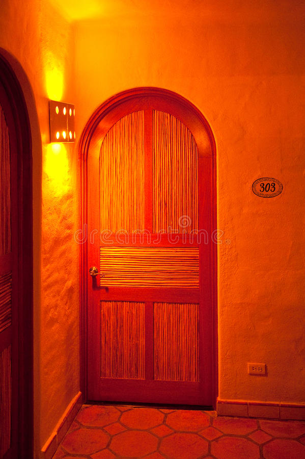 Binnenlandse Spaanse deur royalty-vrije stock foto's