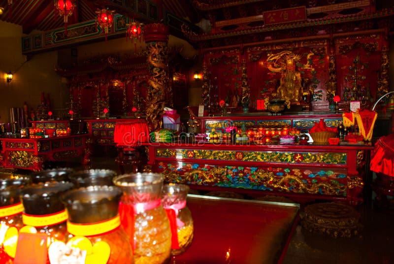 Binnenlandse Tua Pek Kong Chinese Temple Bintulustad, Borneo, Sarawak, Maleisië royalty-vrije stock afbeelding