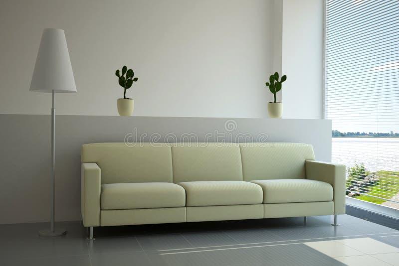 Binnenlandse woonkamer stock illustratie