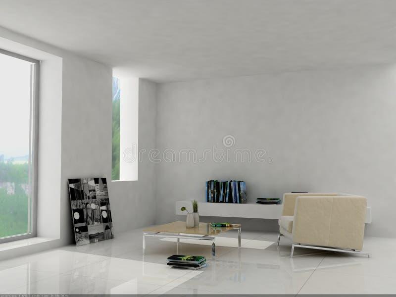 Binnenlandse woonkamer royalty-vrije illustratie