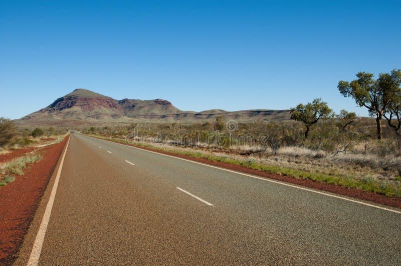 Binnenlandweg - Westelijk Australië stock afbeeldingen