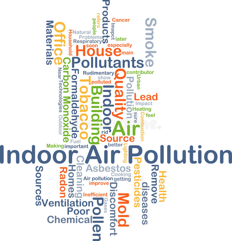 Binnenluchtvervuilingsconcept als achtergrond royalty-vrije illustratie