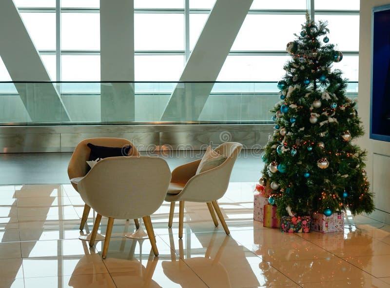 Binnenmening van de luchthaven van KLIA 2, Maleisië royalty-vrije stock foto's