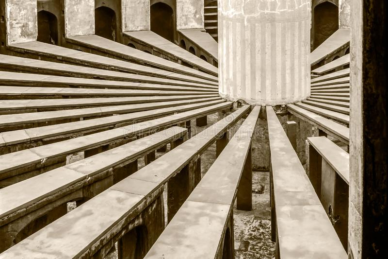 Binnenmening van Rama Yantra van Jantar Mantar stock fotografie