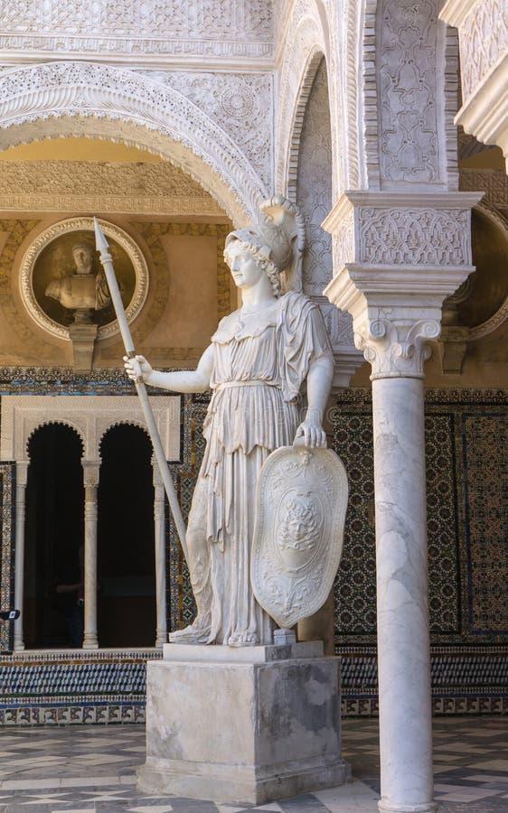 Binnenplaats van Casa DE Pilatos Sevilla, Spanje stock foto